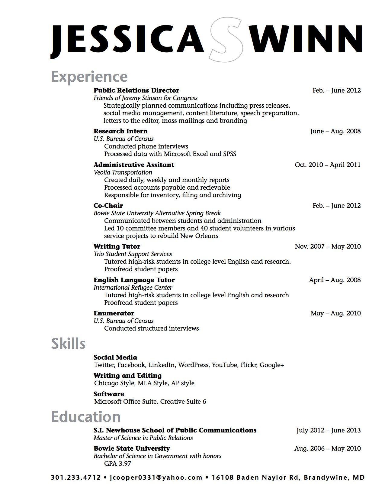 Sample High School Student Resume Example