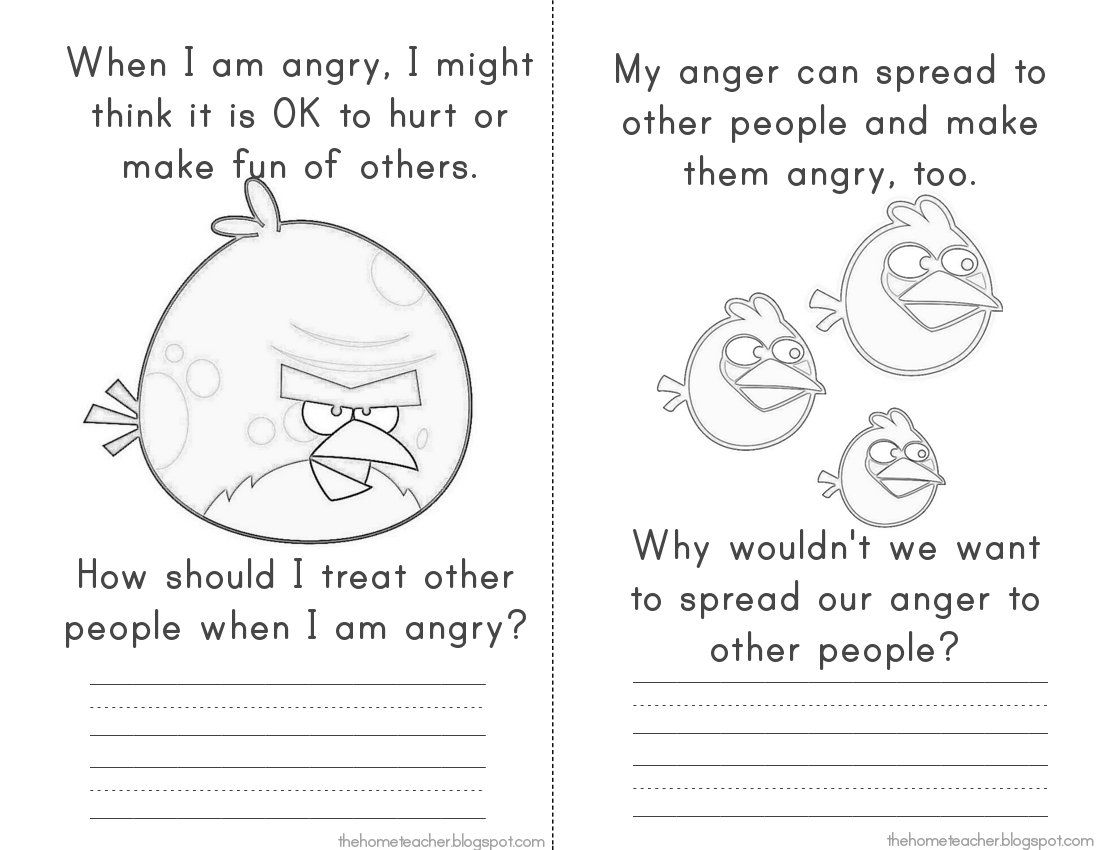 Expressing Angry Feelings Worksheet