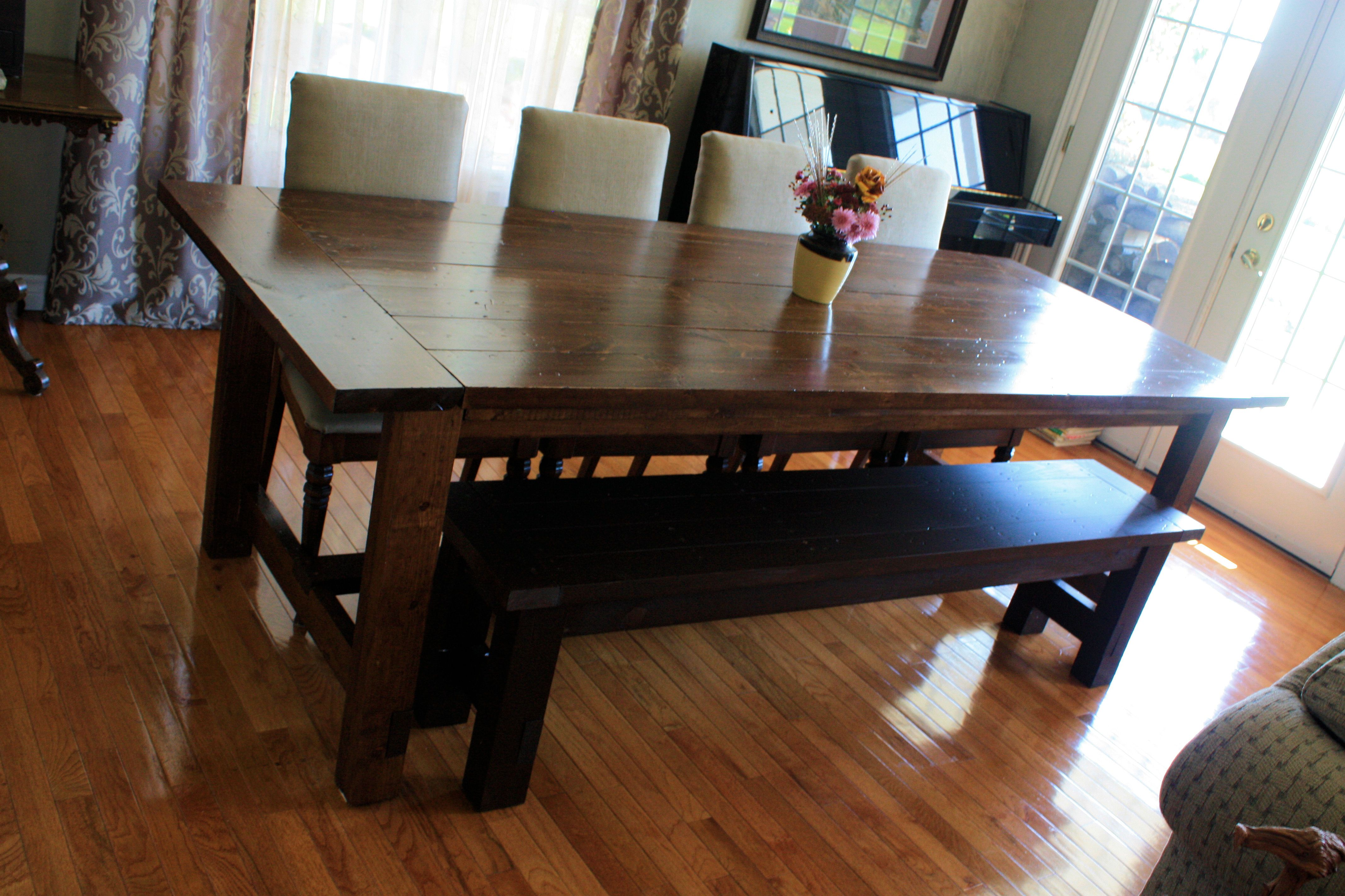 Super Big Farmhouse Dining Table and Bench Do It