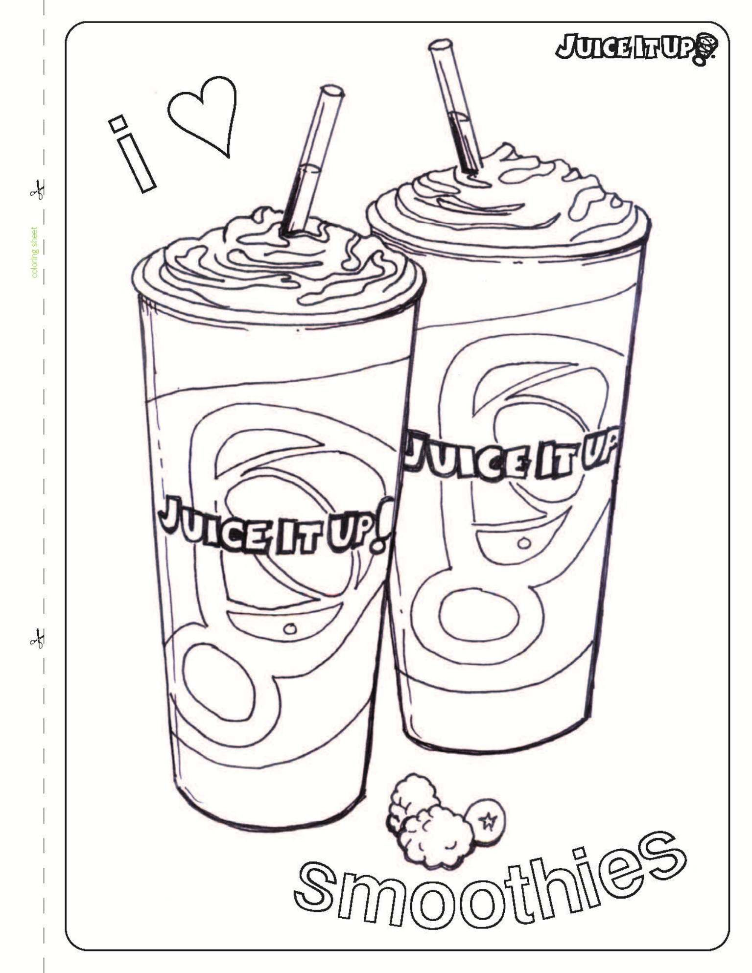 Juice It Up Kids Coloring Sheets