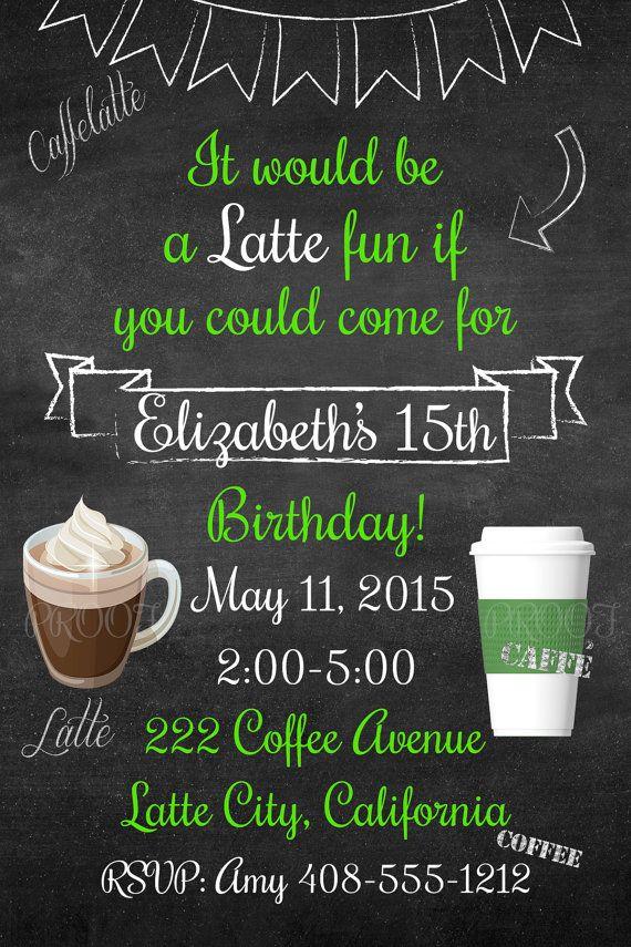 Starbucks inspired birthday by on Etsy