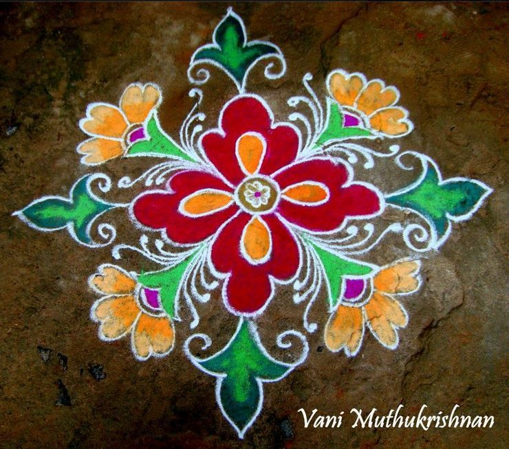 Colorful Kolam Rangoli Designs nandhu Pinterest