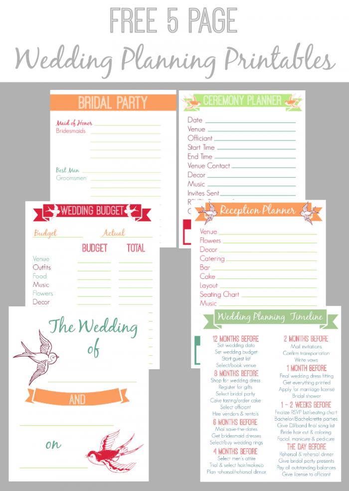 Free Wedding Planning Templates free wedding checklist template – Wedding Planning Worksheets