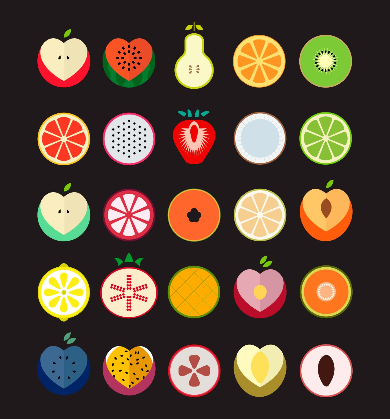 Fruit Icons icon Pinterest Icons, Logos and