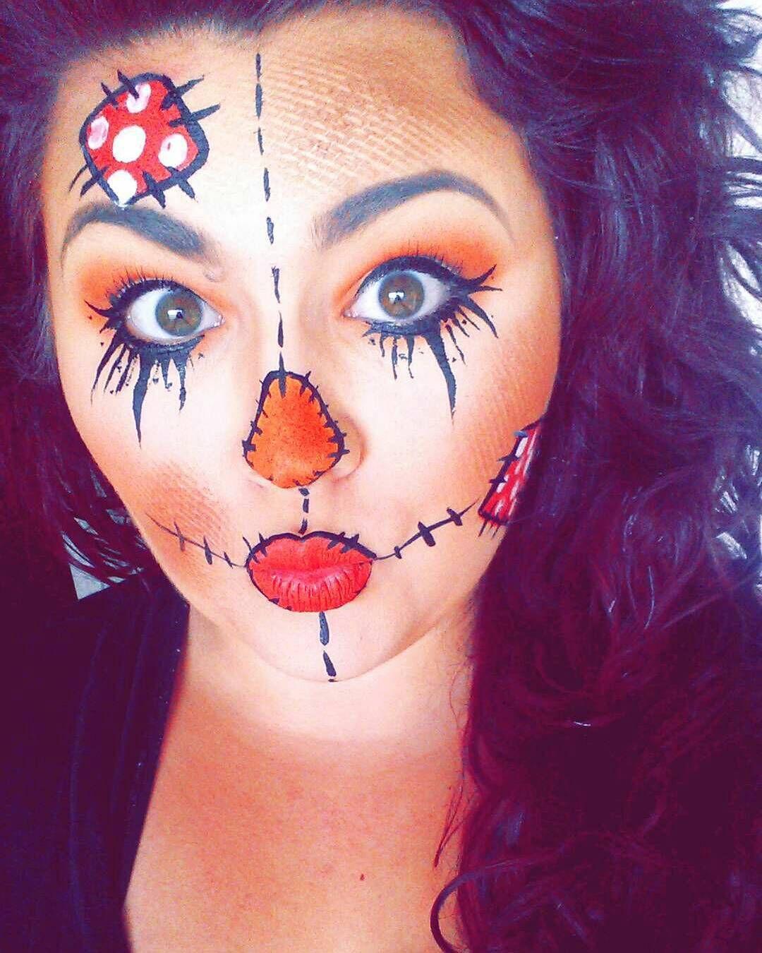 halloween classic scarecrow facepaint Halloween