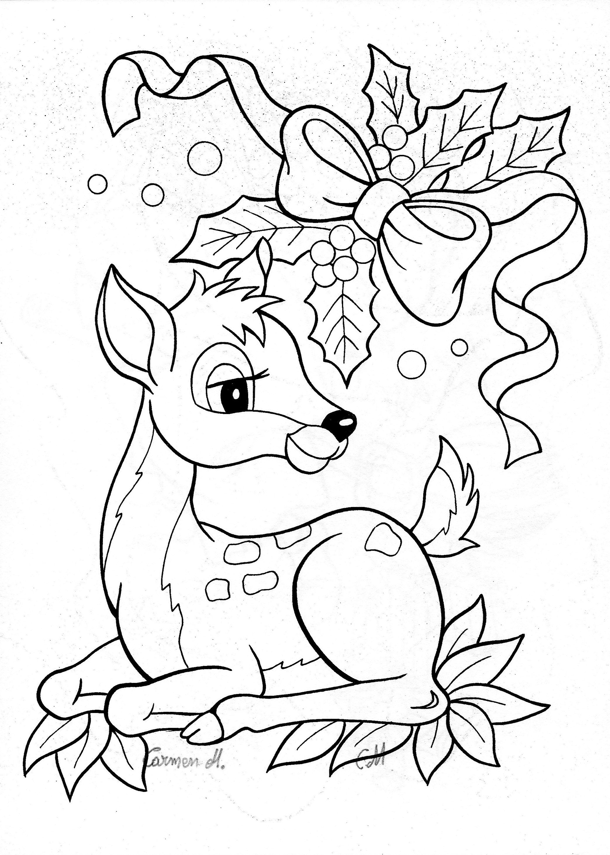 Colour It Sew It Trace It Etc Christmas Bambi Deer