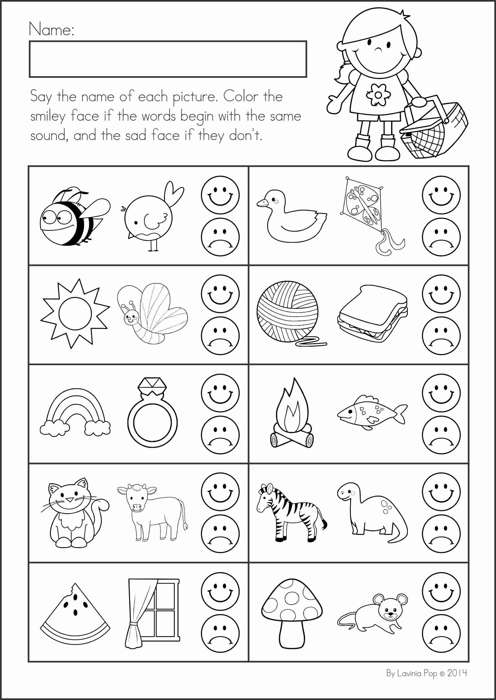 Nutrition Worksheet For Kindergarten Unit