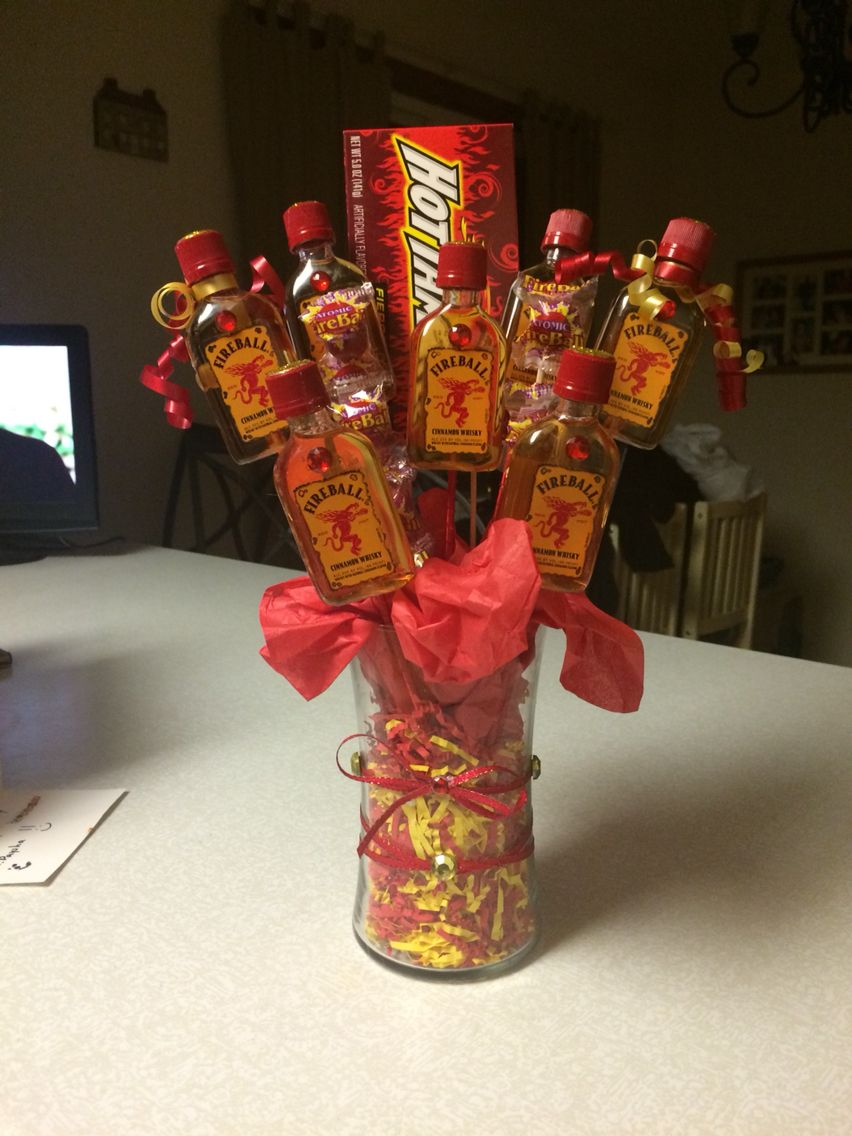 Fireball bouquet i made for beccas bday projects