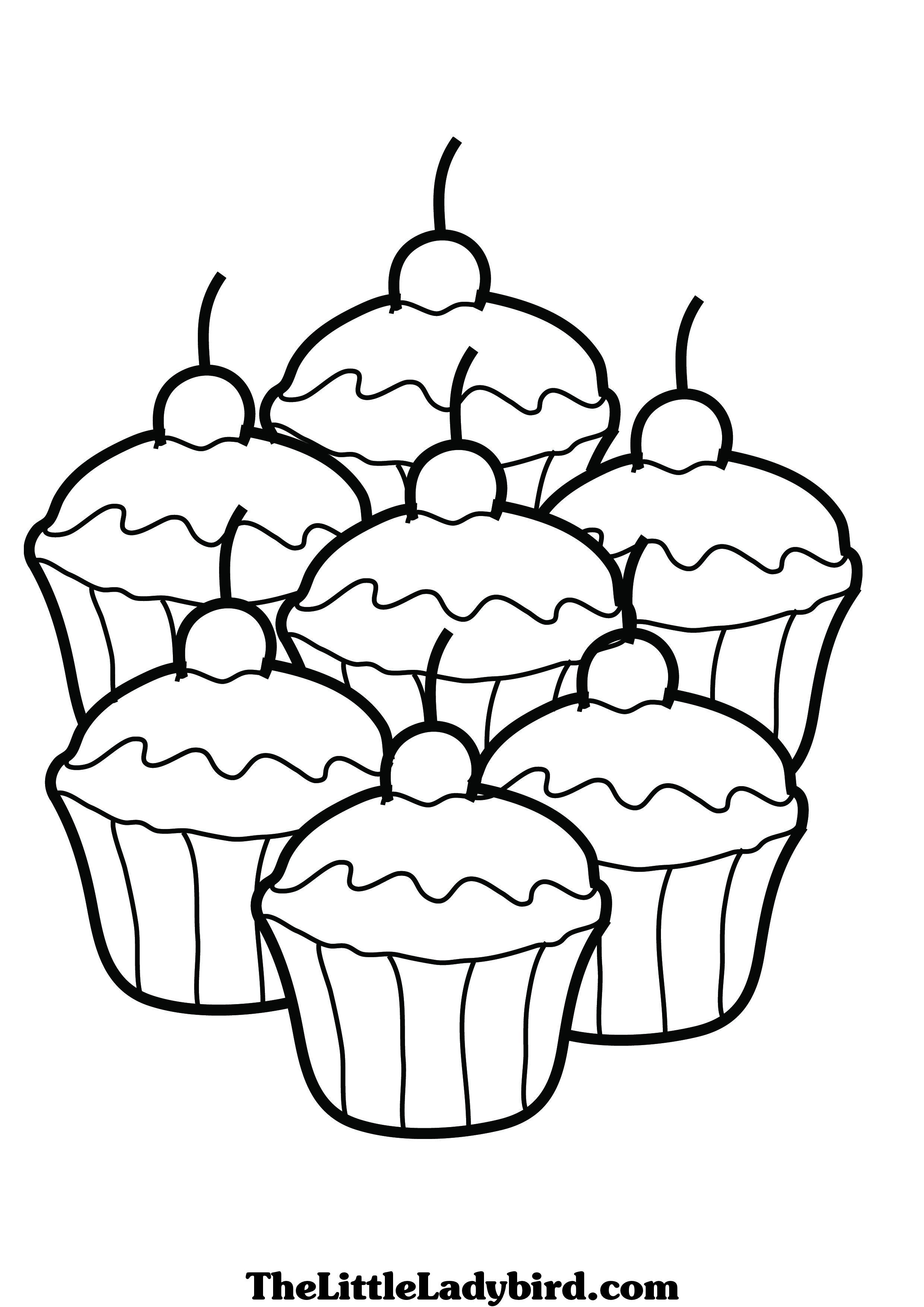 Cupcake Coloring Pages Free Coloring Pages