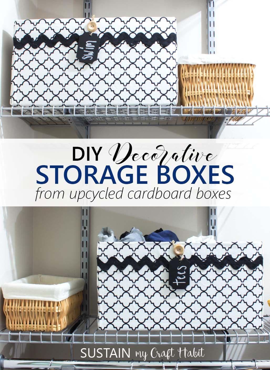 Upcycling a Cardboard Box into a Stylish DIY Storage Box