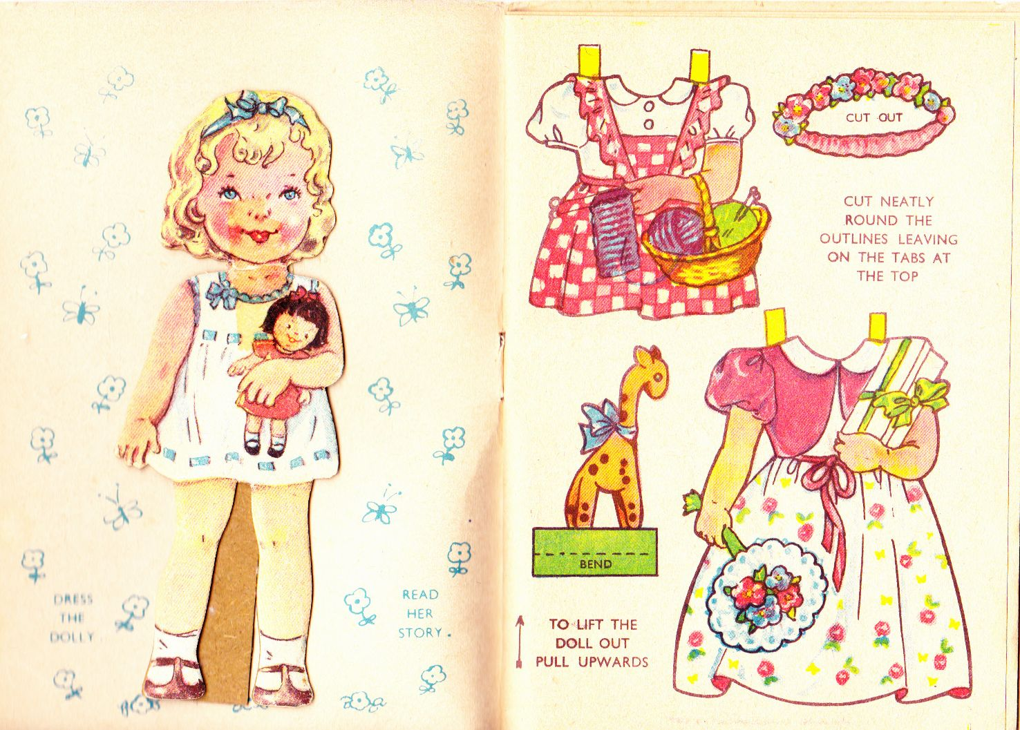 Happy Hours English Paper Doll Book Sandles S