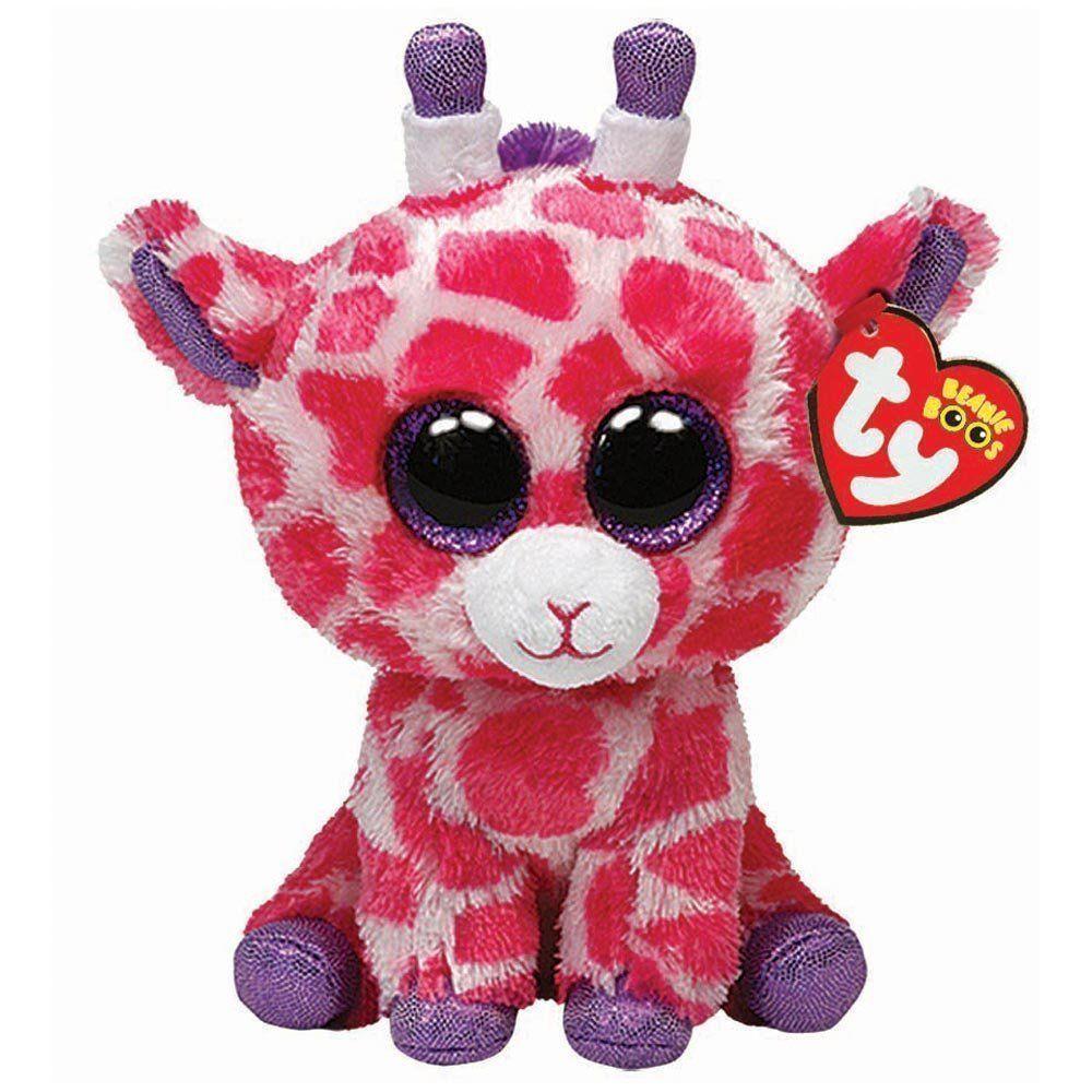 Ty Twigs the Pink Giraffe Beanie Boos Stuffed Plush Toy
