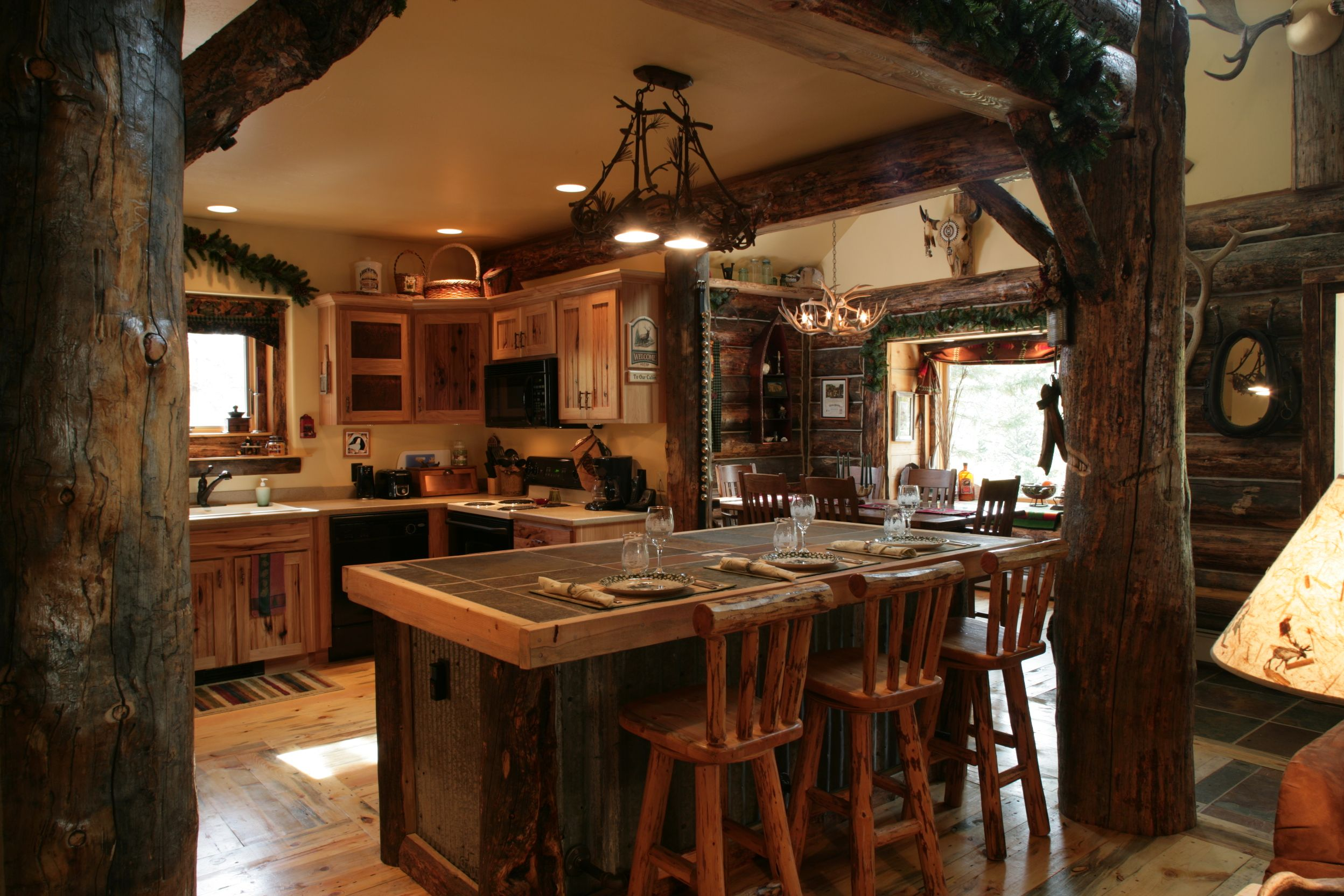 Hunting lodge interior - A Great Kitchen Idea For The Hunting Lodge