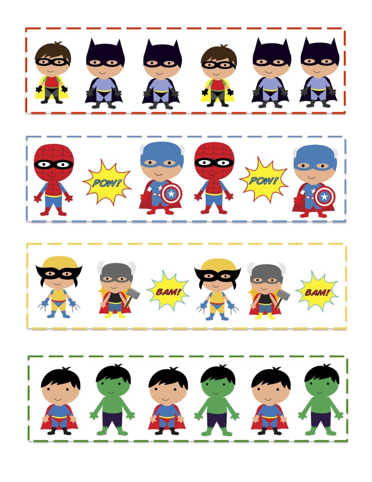 Preschool Printables Super Hero S Pattern Cards