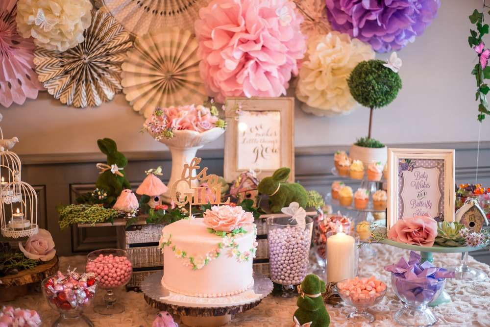 Enchanted Garden Baby Shower Party Ideas Garden baby