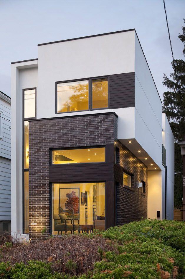 Planos de casa de dos pisos moderna, construcción en ...