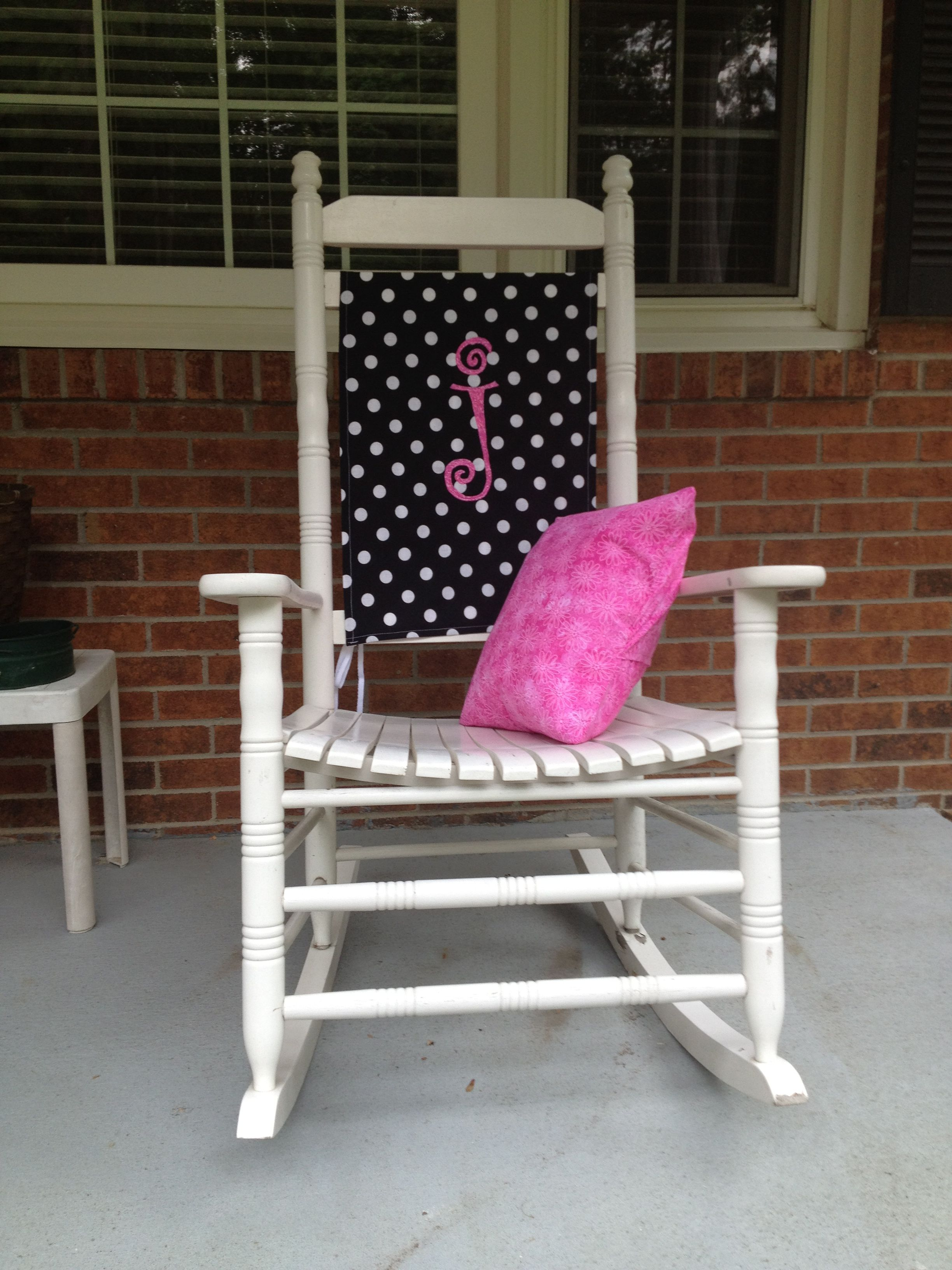 Personalized rocking chair cover and pillow. MY OWN