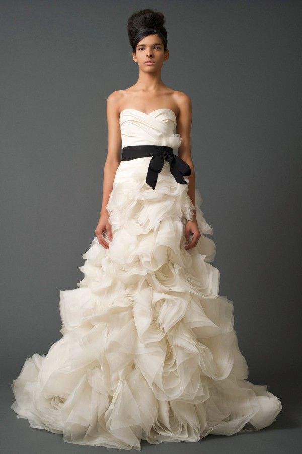 Black Wedding Sash. cream wedding dress with black sash dress blog ...