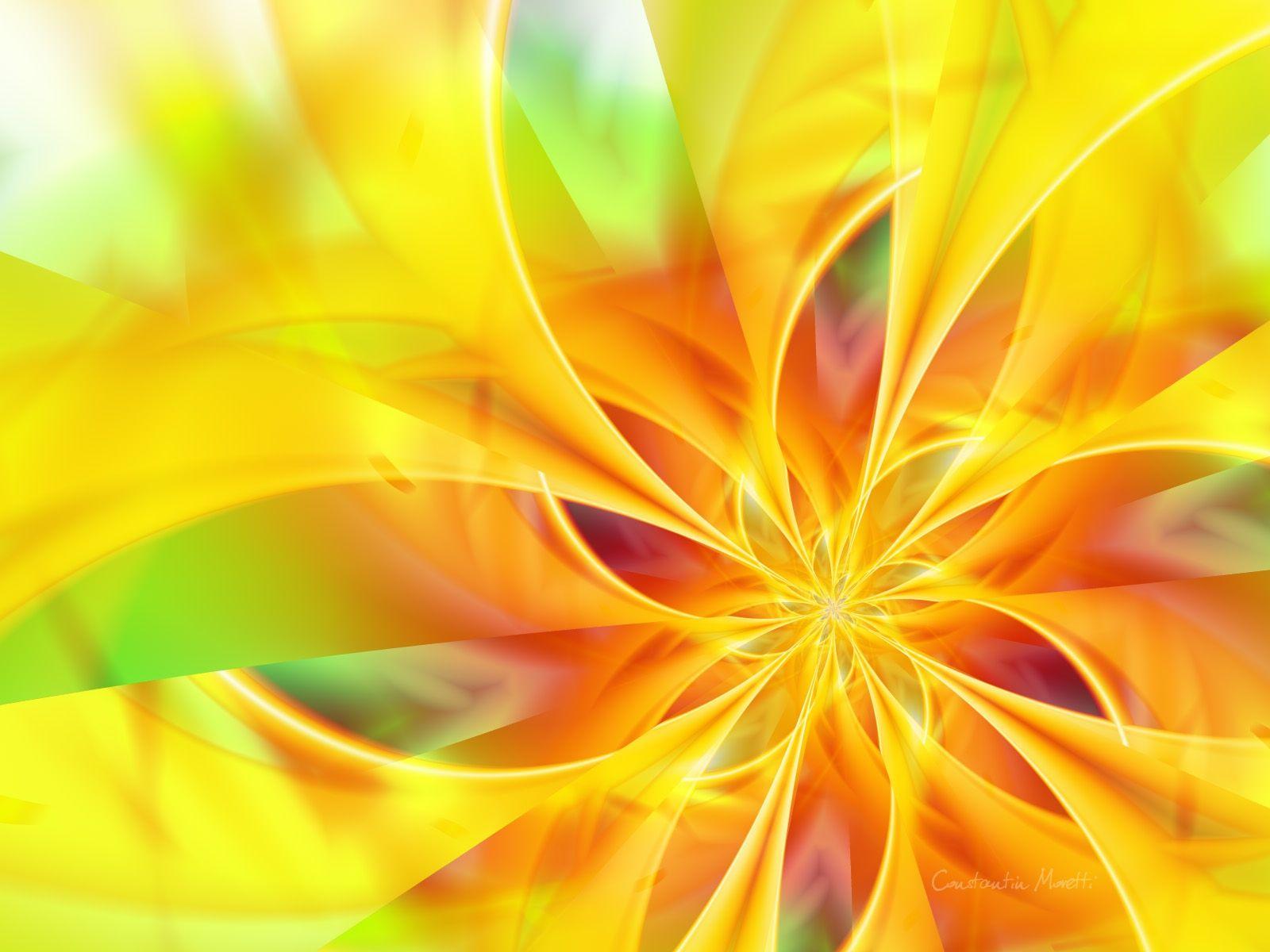 Neon Yellow Download Original yellow, flower, hand