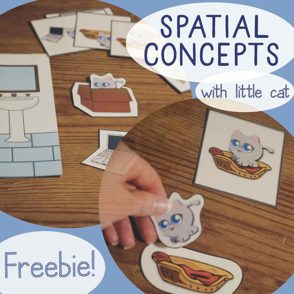 Spatial Concepts Prepositions Freebie From Cat Says Meow