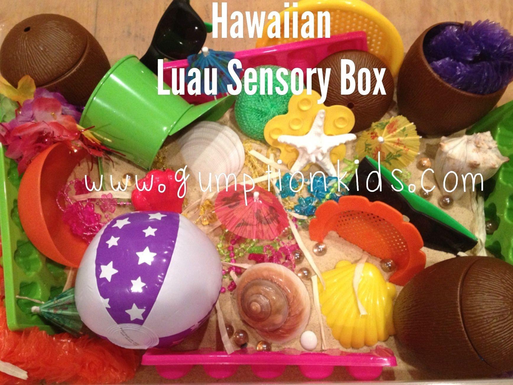 Hawaiian Luau Sensory Box