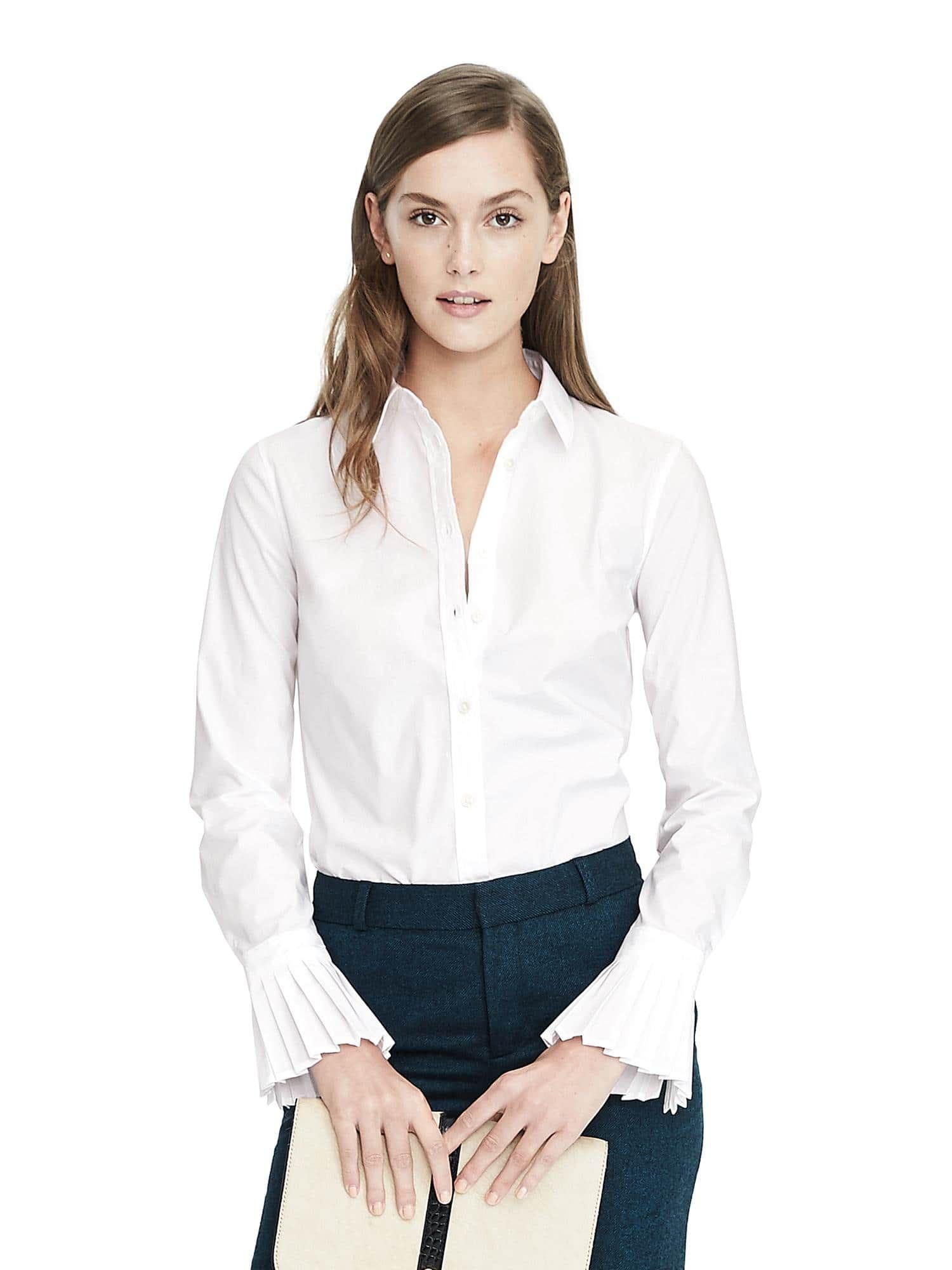 Banana Republic RileyFit Tailored Pleated Cuff Shirt
