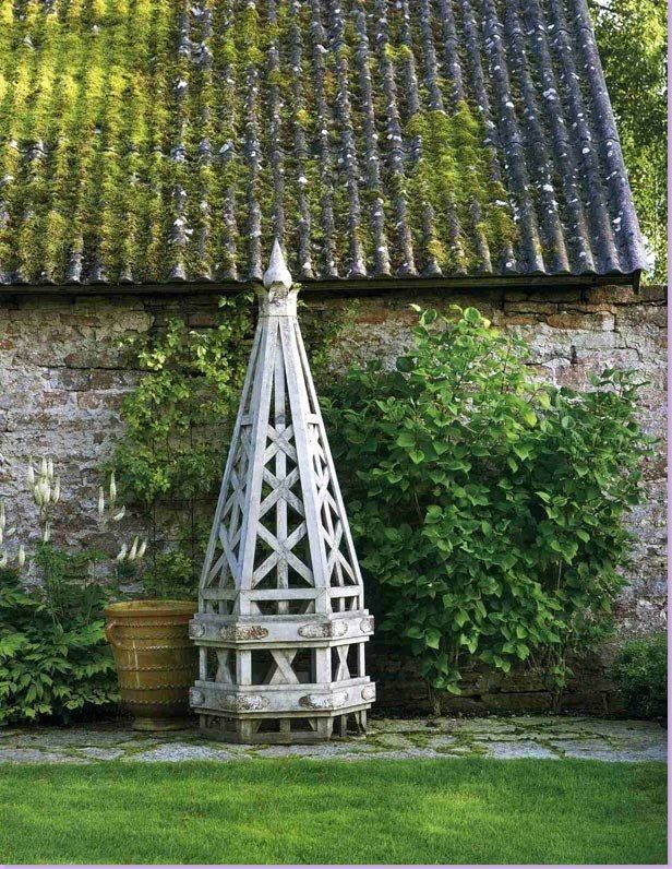 Obelisk at the summer house, Island of Oland in Sweden