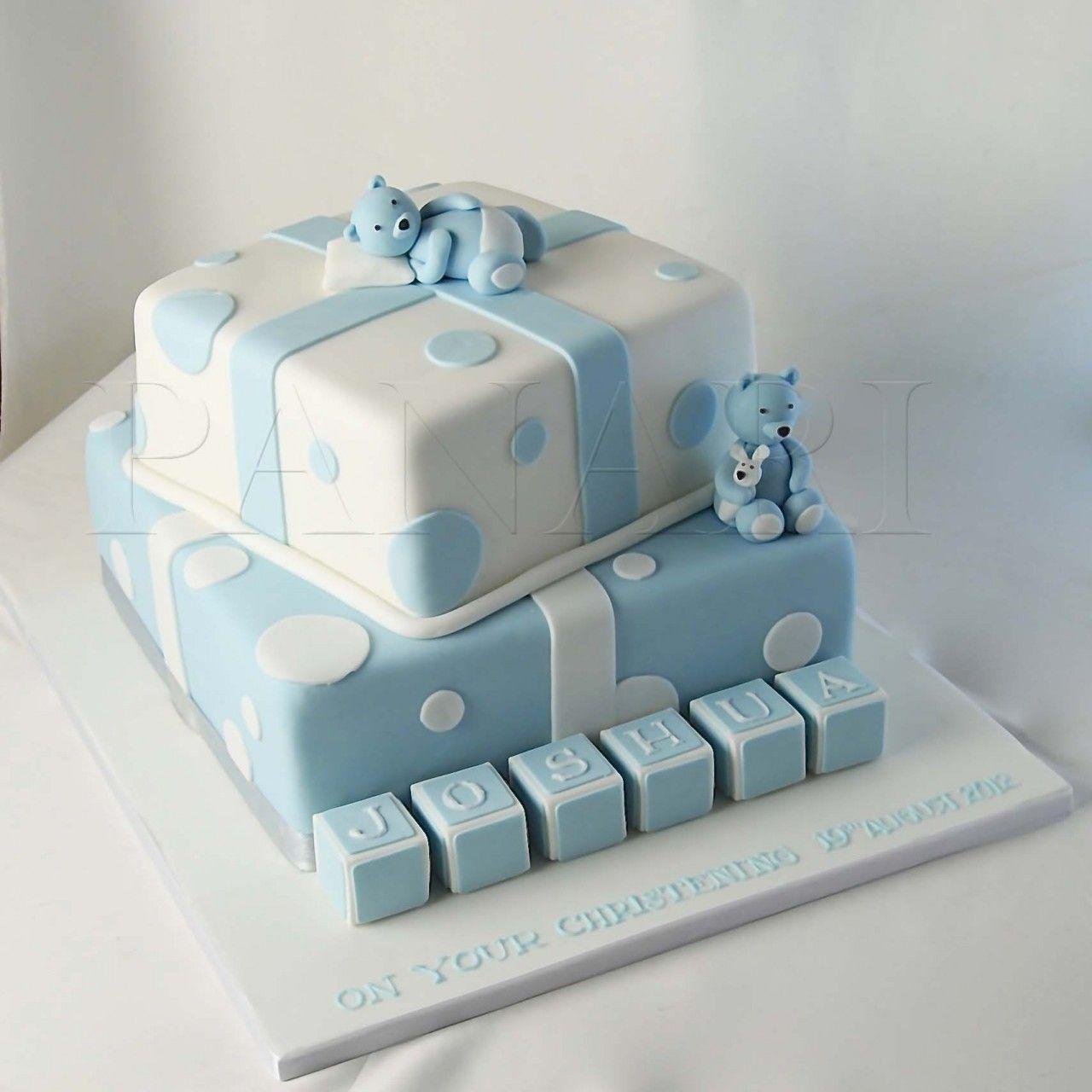 Baby Boy Christening Cakes