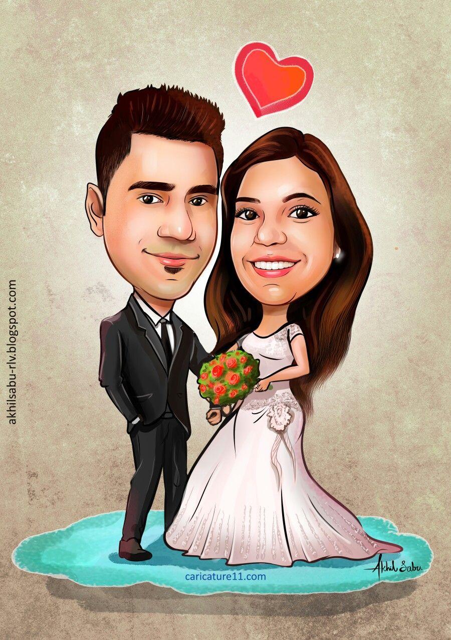 Pin by akhil sabu on wedding caricature Pinterest