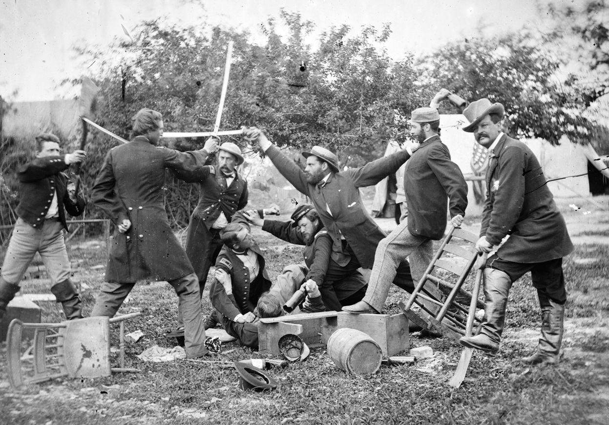 A Muss At Headquarters During Civil War Virginia In April