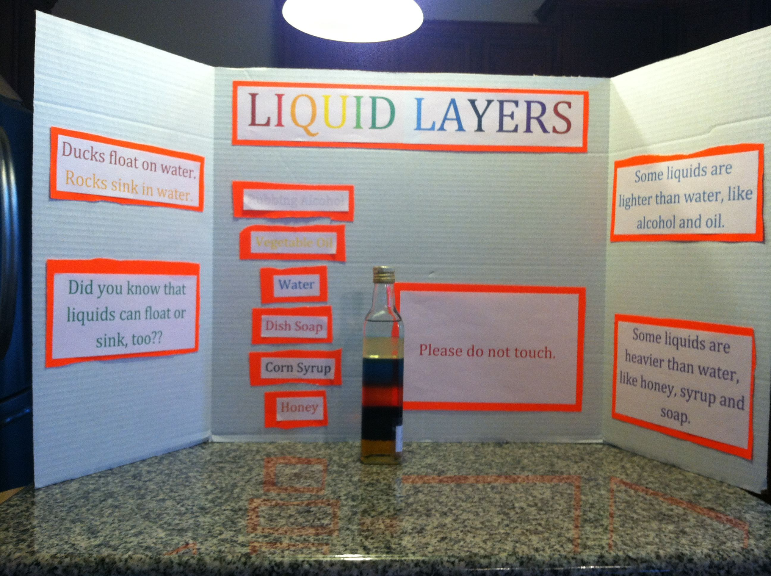 Liquid Layers Science Project
