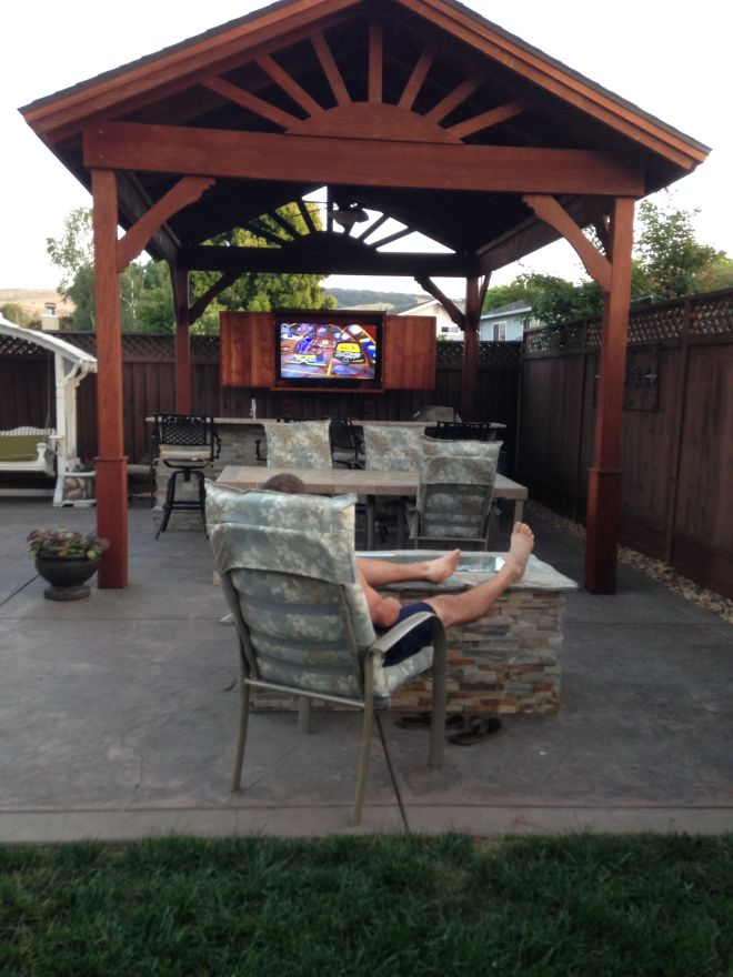 Kick off the football season by installing an outdoor tv
