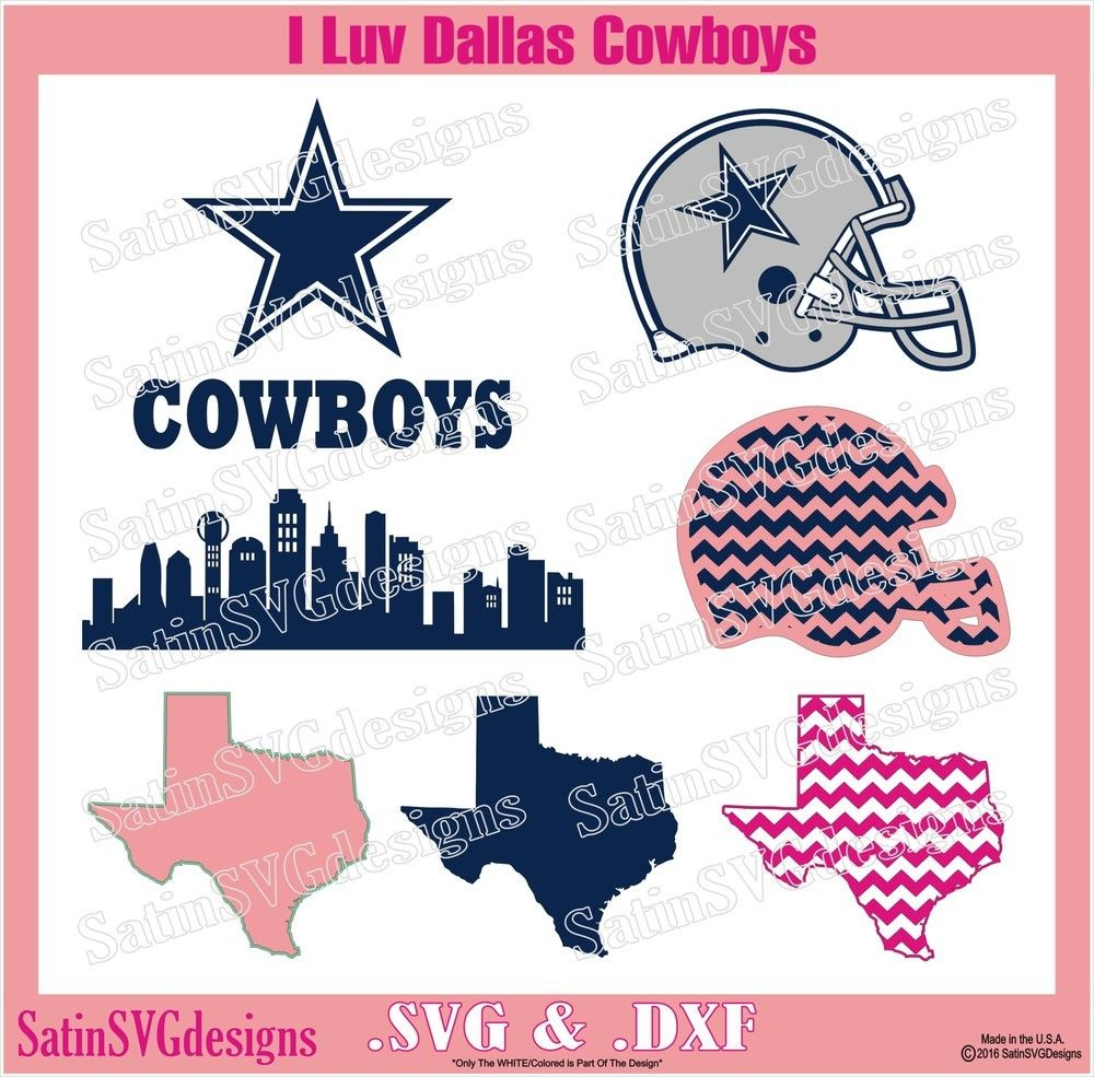Dallas Cowboys Star City Design SVG Files, Cricut