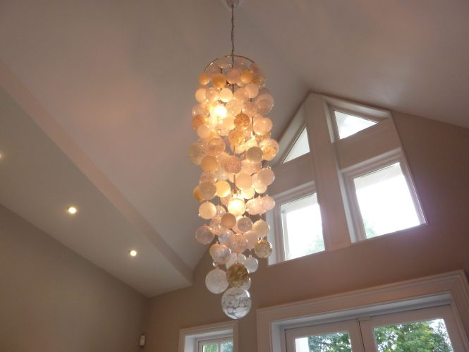 Chandelier Unusual N Glass Bubble Ball Brightly Coloured Long London Lounge Hand Made Luxurious Hall Pendant Lighting