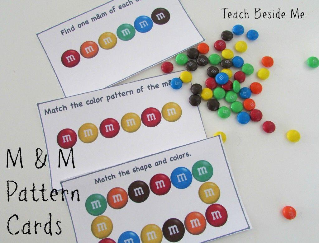 M Amp M Math Pattern Cards