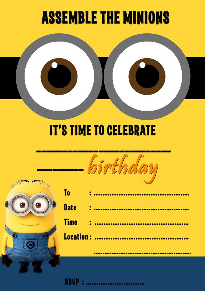 minions birthday invitation online