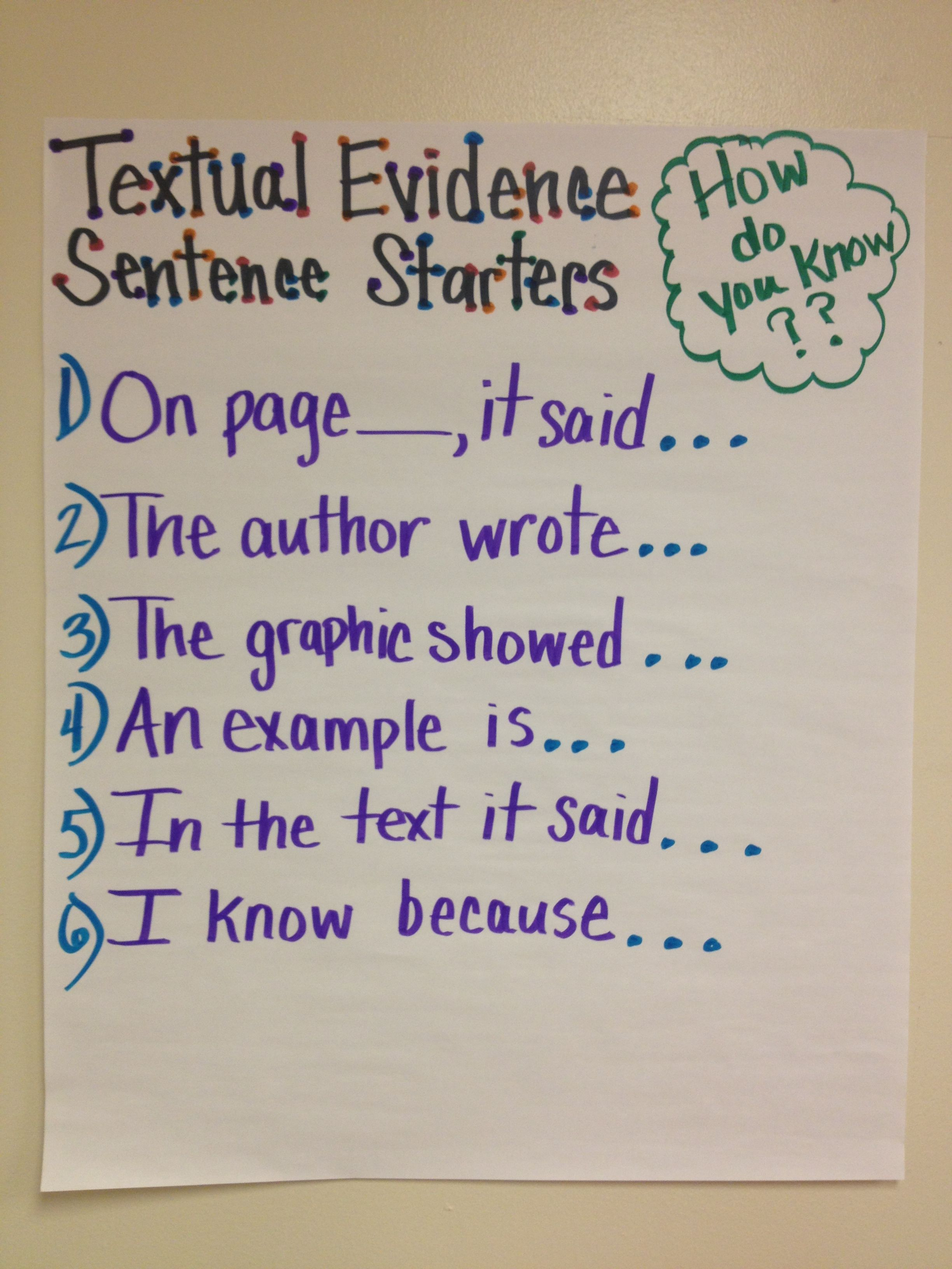 Teaching Students To Use Anchor Standard 1 Textual