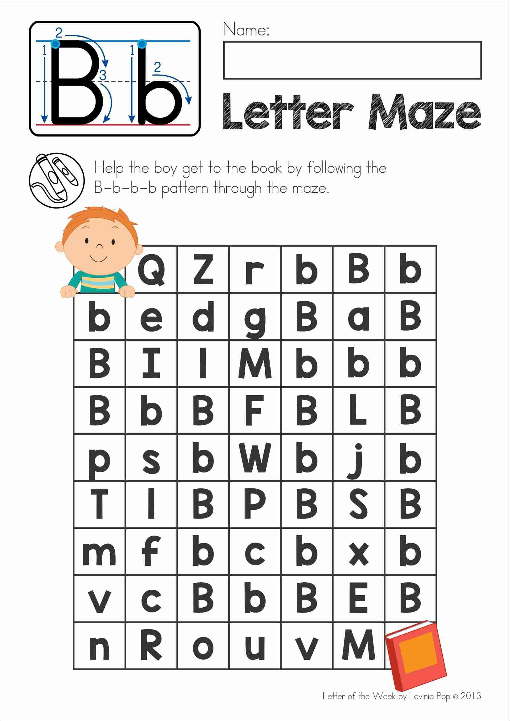Free Phonics Letter Of The Week B Upper And Lower Case