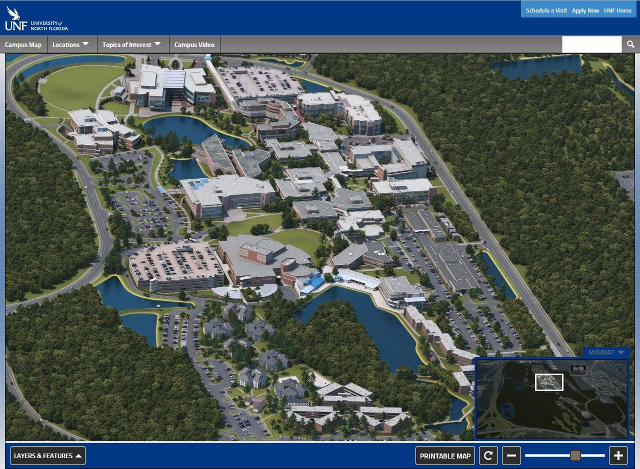 University of North Florida Campus Map University of