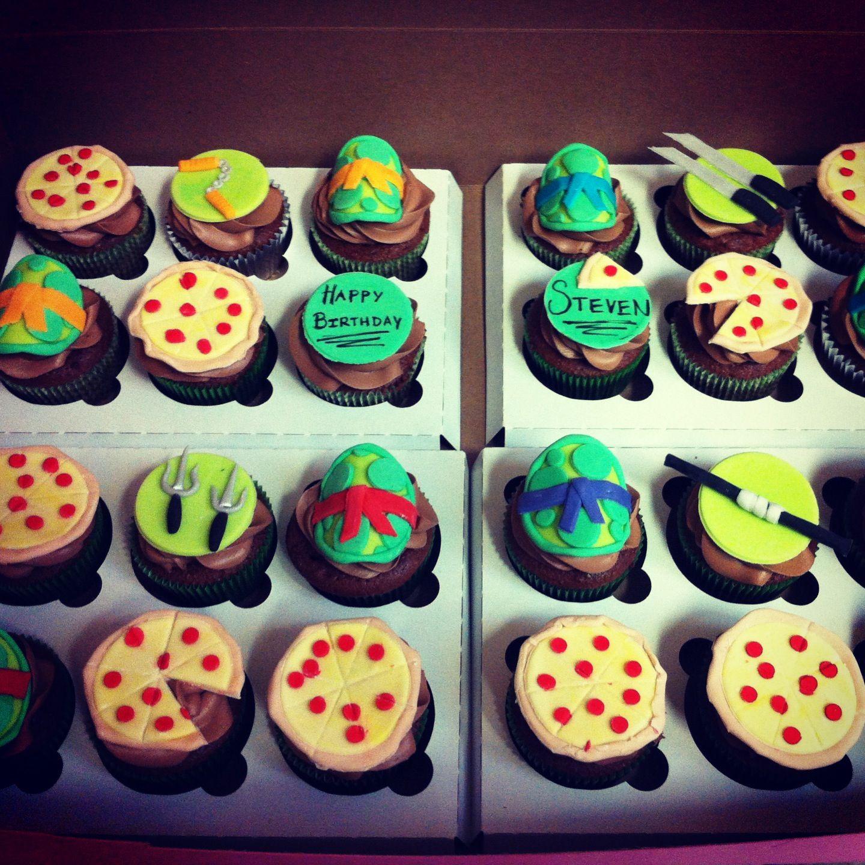 Teenage Mutant Ninja Turtles Cupcake Toppers Made Of