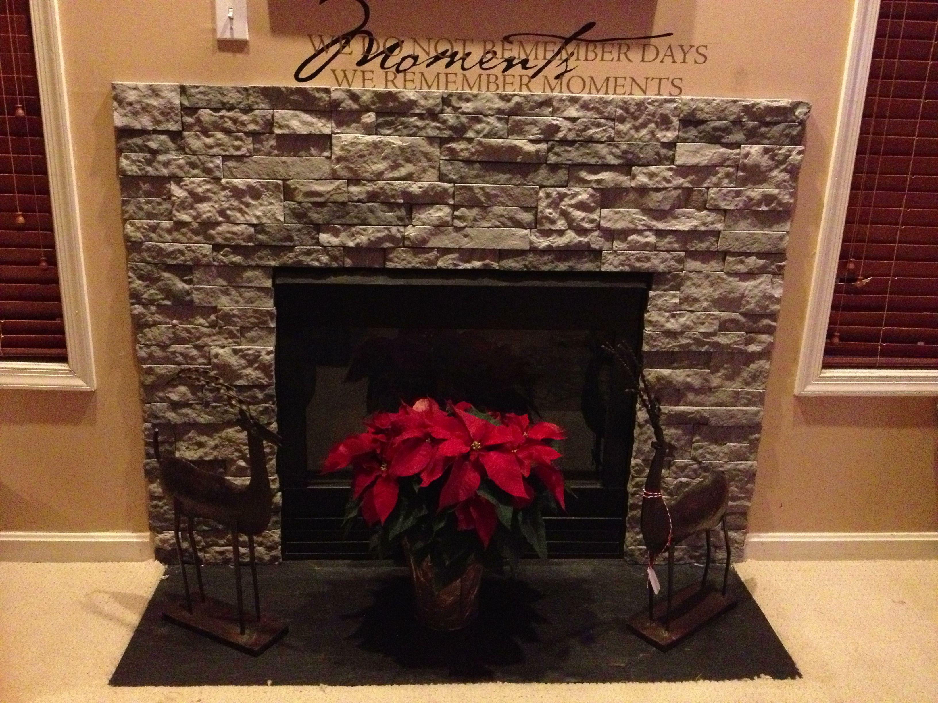 Remodel Of Builder Grade Fireplace Used Rustoleum High