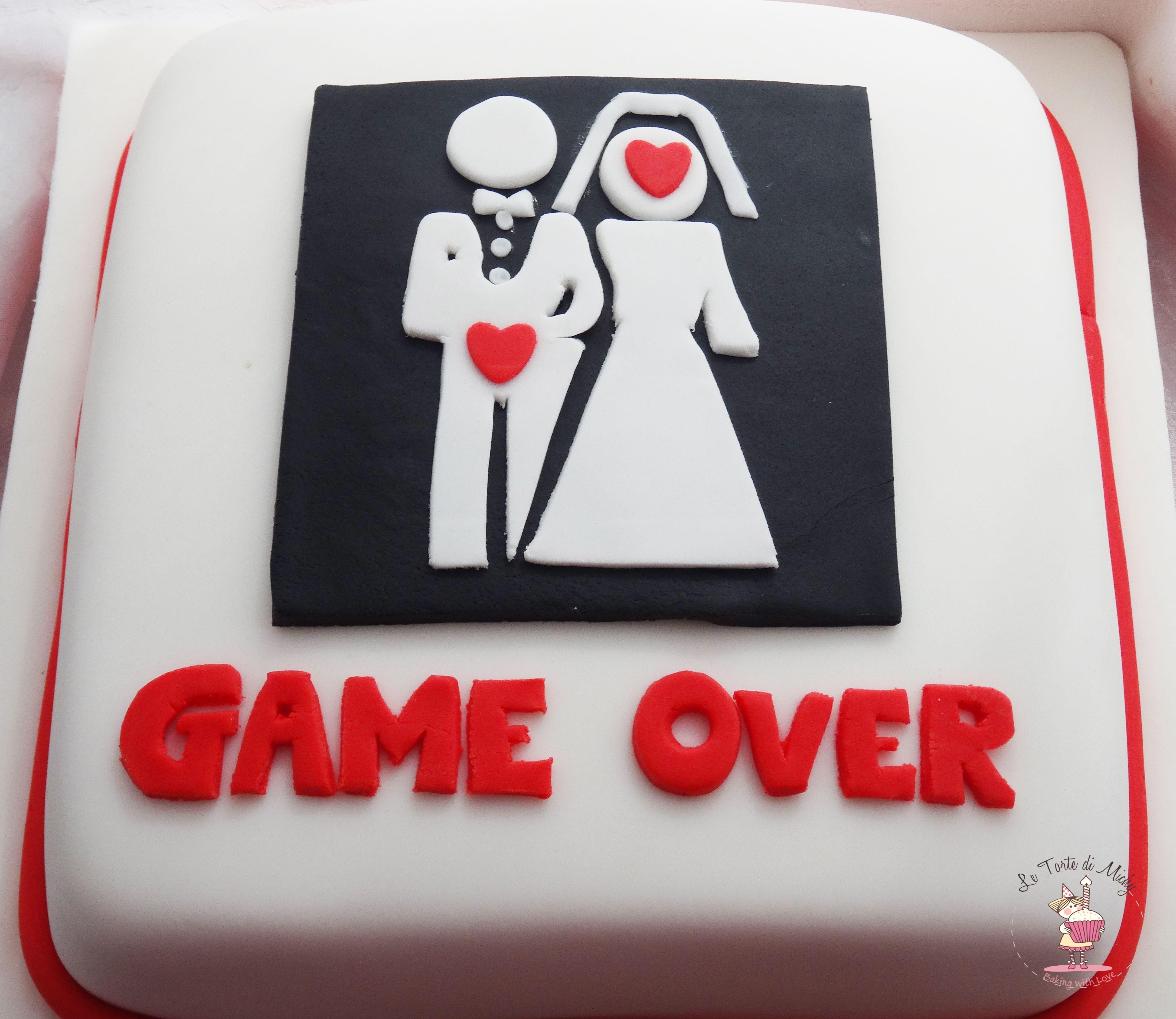 Game Over Cake Torta Addio Al Nubilato Celibato