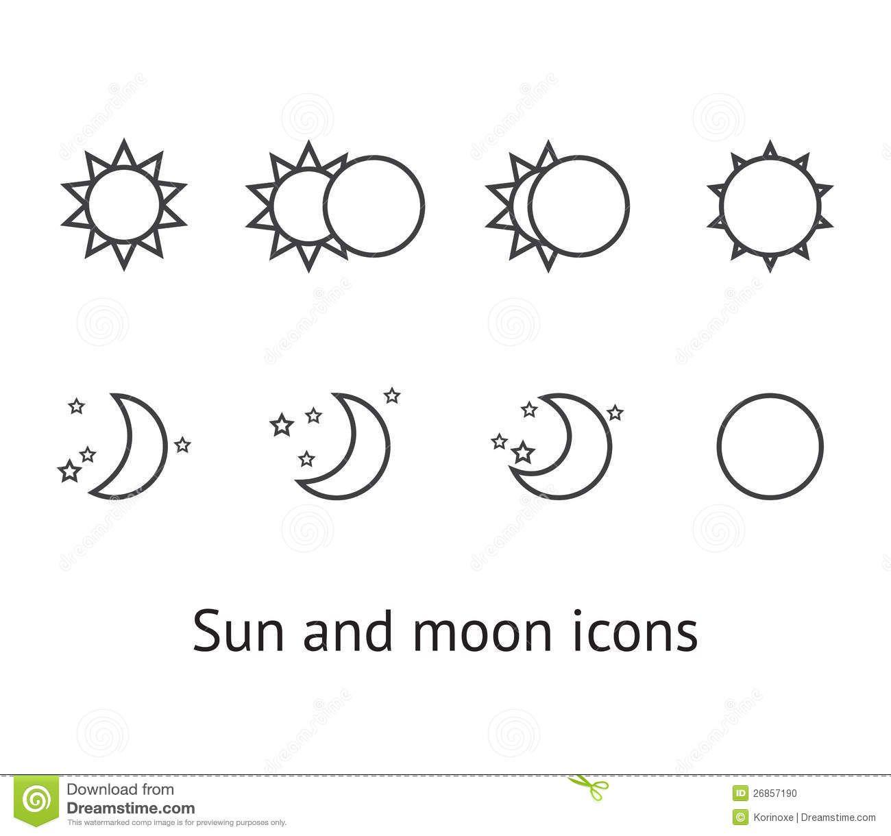 Little Sun And Moon Tattoos On Thumbs 1