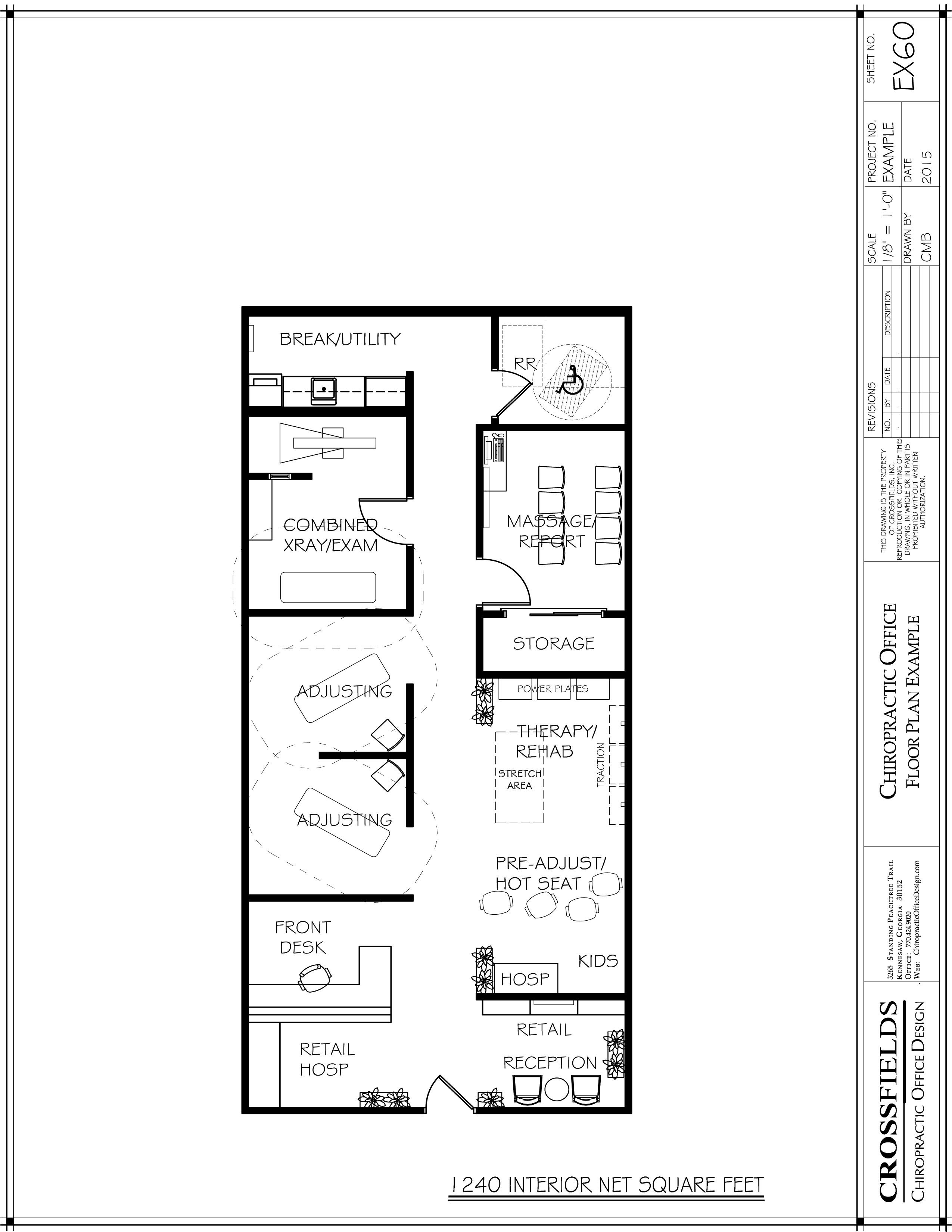 Sample Plan With Open Therapy Rooms And Semi Open