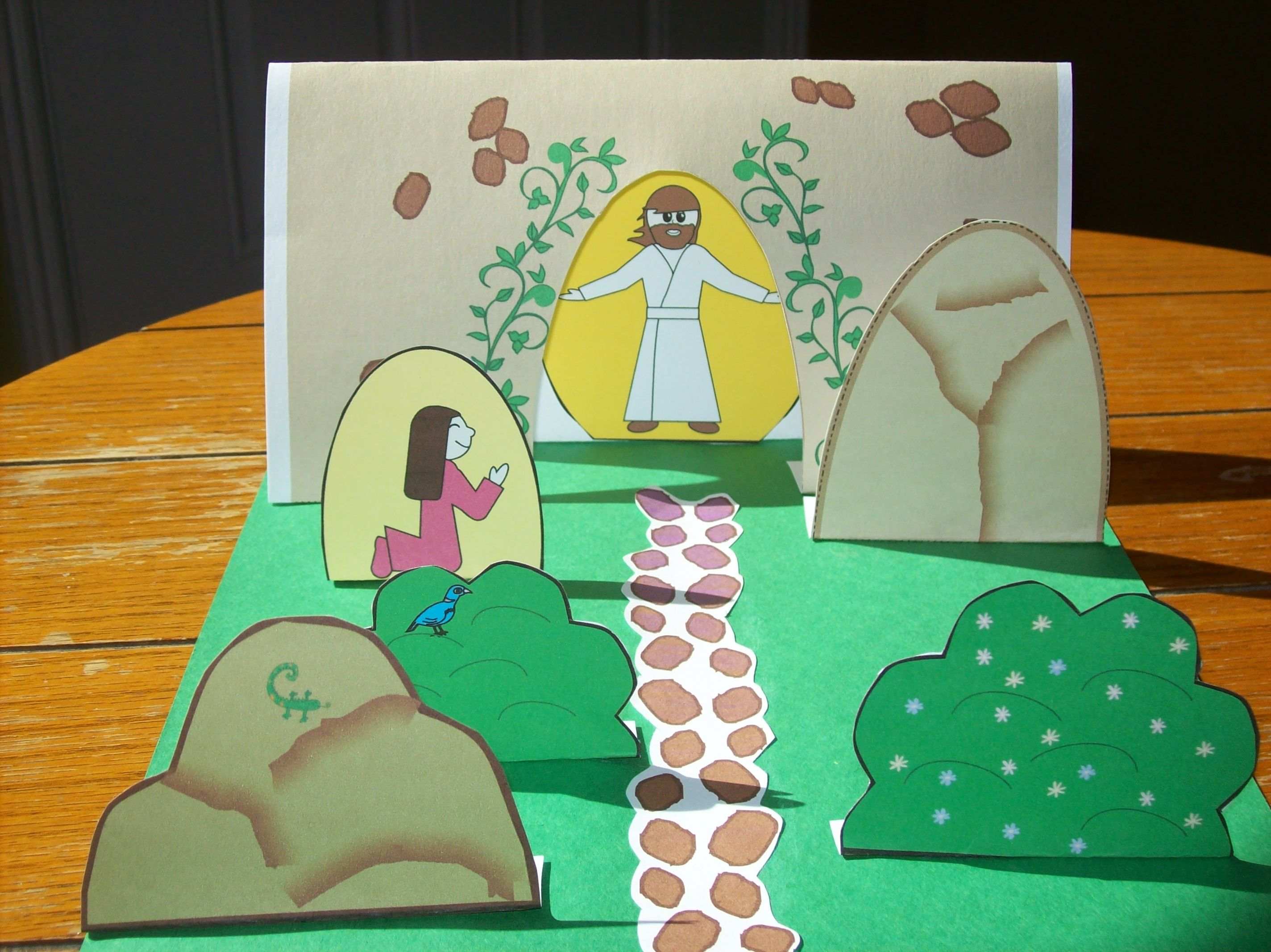 Colored Religious Easter Pictures For Preschool Kids
