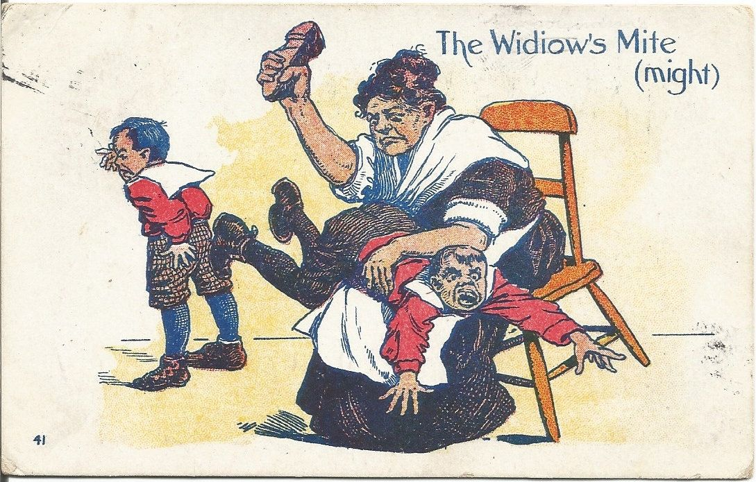 The Widiows Mite Might Spanking Child Over My Knee