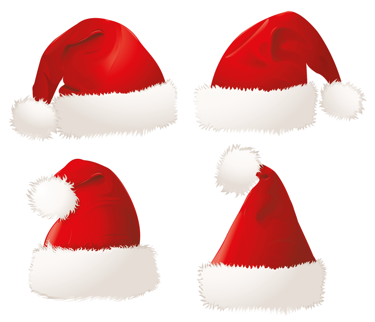 Christmas Santa Hats PNG Clipart Picture christmas