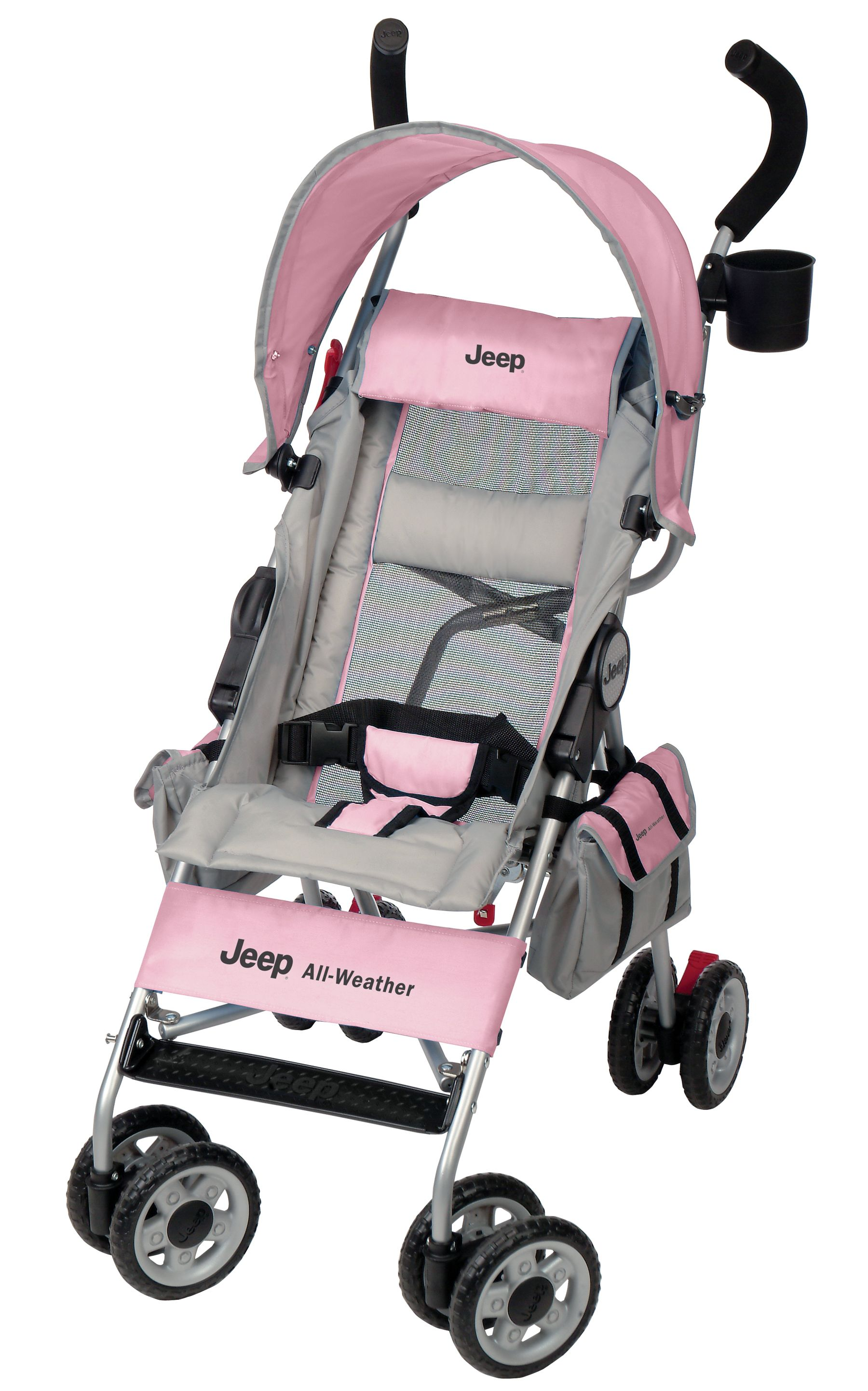 Jeep Wrangler AllWeather Umbrella Stroller Pink Features