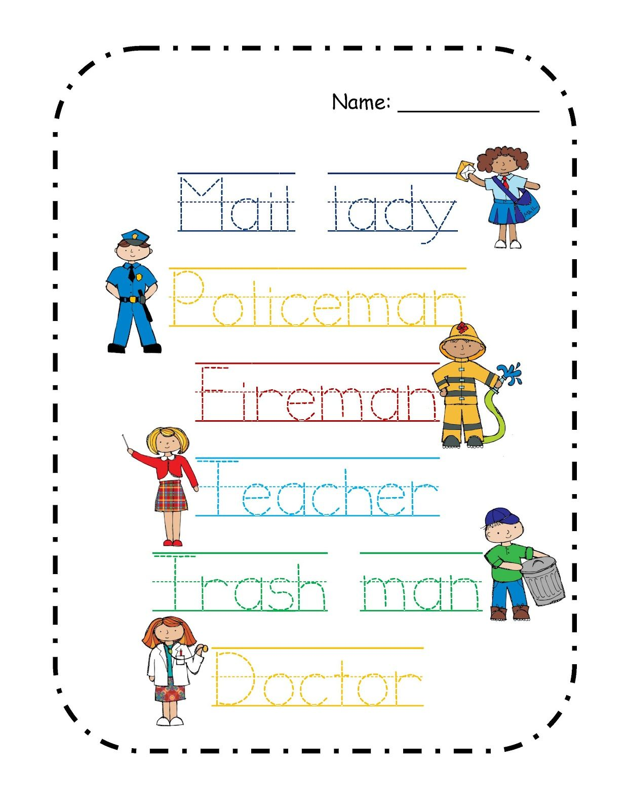 Worksheet Community Helpers Worksheet Grass Fedjp