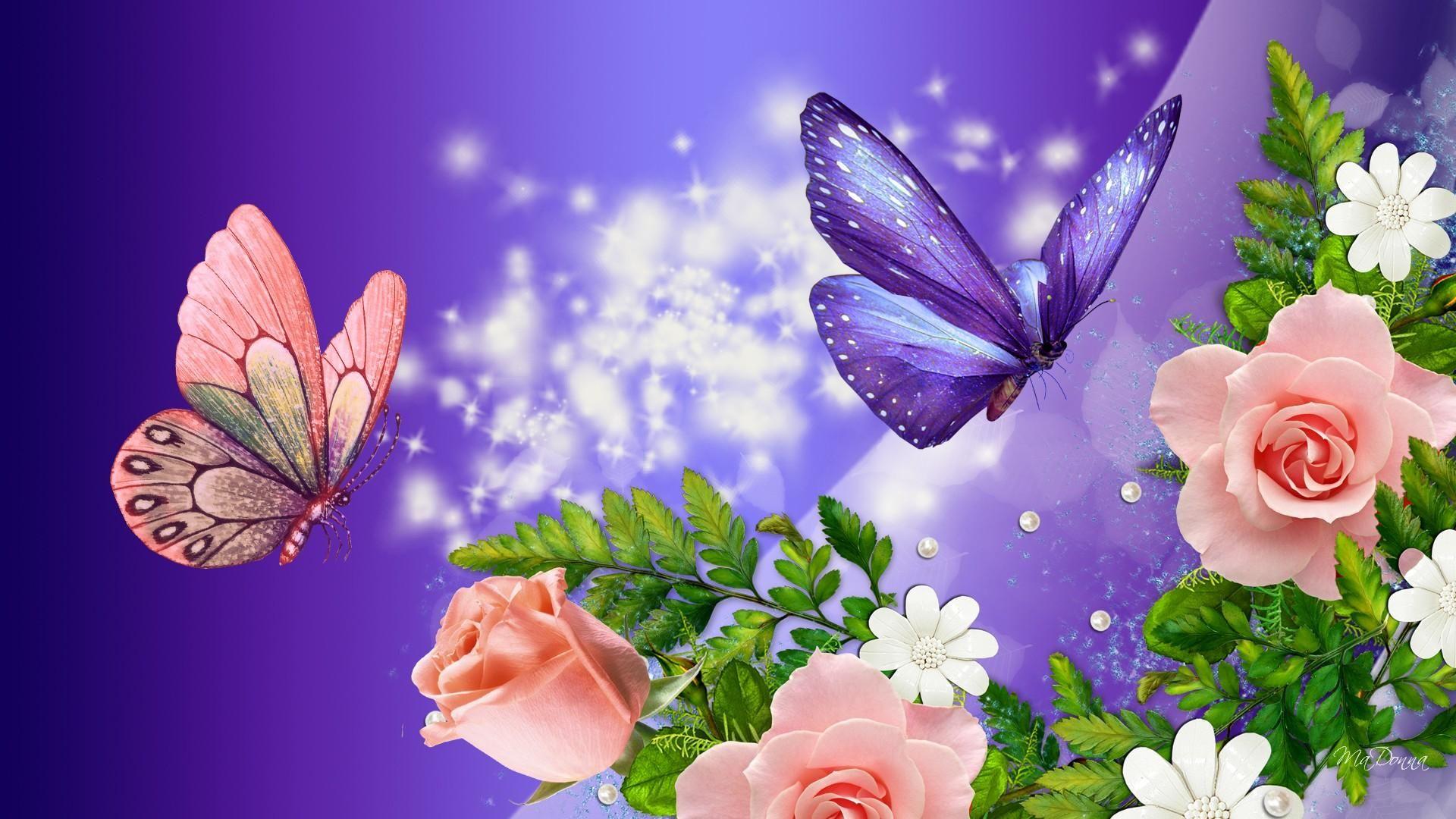 HD Peach Roses Purple Fantasy Wallpaper fd Pinterest